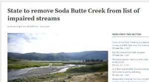 Montana to delist Soda Butte Creek