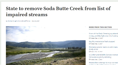 Montana to delist Soda Butte Creek