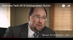 Brad Archibald Receives Distinguished Alumni Award