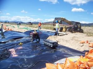 Pioneer team working on Class II Landfill