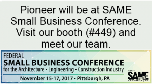 Pioneer will be at booth 449 at the SAME conference